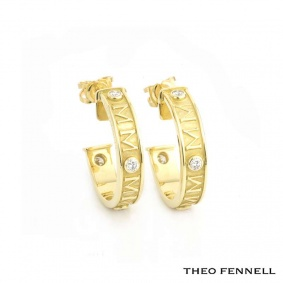 Theo Fennell Fennellium Hoop Earrings